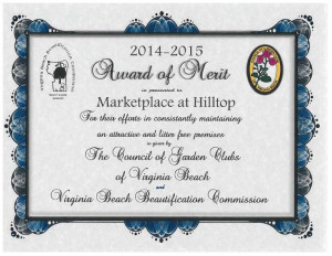 Hilltop Award of Merit 2014-2015